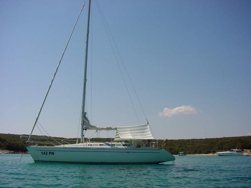 Elan 331 - Irena, our first sailboat at Marina Punat