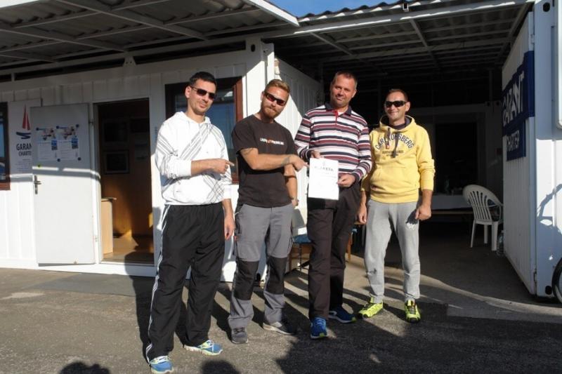 1. mjesto - brod Bura sa posadom Boris Cvetković, Emil Djukić, skiper Miro Volarić i Josip Špoljarević