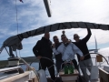 The winning crew on boat Bura with skipper Miro Volaric